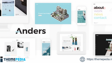 Anders – Design Portfolio Theme [Free download]
