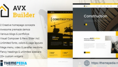 AVXBuilder – Construction Business WordPress Theme [Latest Version]