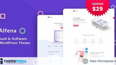 Alfena – SaaS Startup WordPress Theme [Free download]