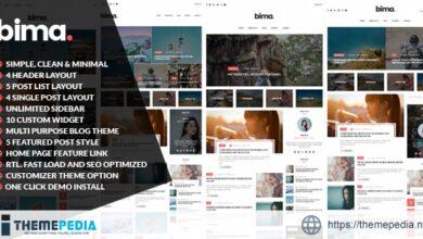 Bima – Modern & Clean WordPress Blog Theme [Free download]