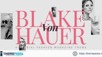 Blake von Hauer – Editorial Fashion Magazine Theme [Free download]