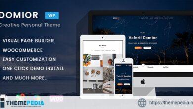 Domior – Creative Personal Portfolio WordPress Shop Theme [Updated Version]