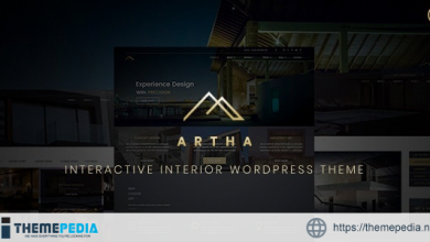 Artha Interactive Interior WordPress Theme [Free download]