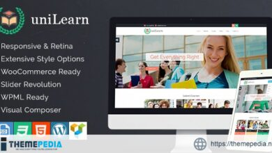 UniLearn – Education and Courses WordPress Theme [nulled]