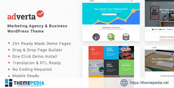 Adverta – Marketing Agency & Business WordPress Theme [Updated Version]