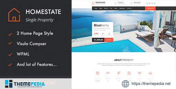 HOME STATE – Single Property Real Estate WordPress Theme [Latest Version]