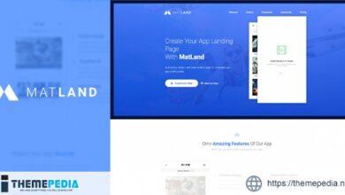 MatLand – WordPress App Landing Page [Free download]