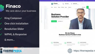 Finaco – Consulting & Business WordPress Theme [Free download]