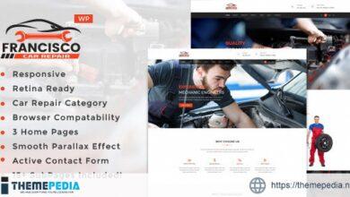 Francisco – Auto Mechanic Repair WordPress Theme [Free download]