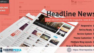 Headline News – Clean and Modern Magazine Theme [Free download]