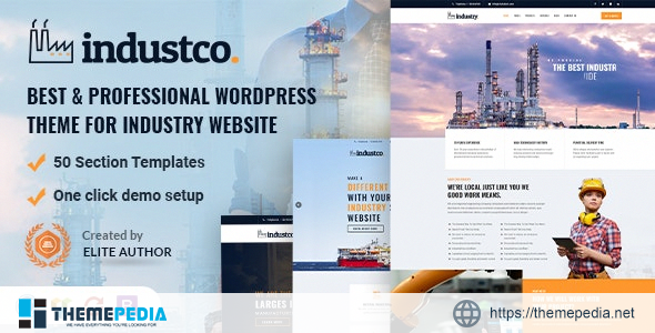 IndustCO – Industry & Factory WordPress Theme [Free download]