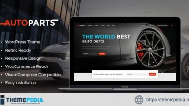 Car Parts Store & Auto Services WordPress Theme [Free download]