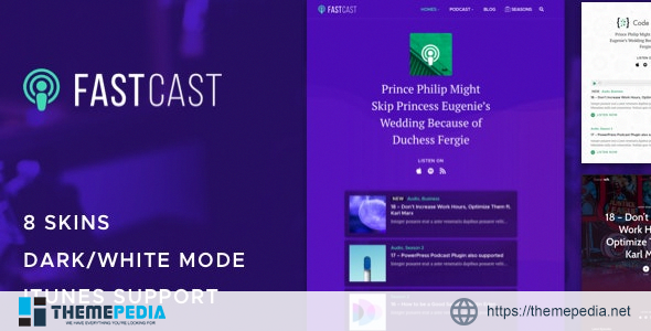 Fastcast – Podcast WordPress Theme [Updated Version]