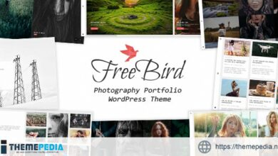 FreeBird – Photography Portfolio WordPress Theme [Free download]