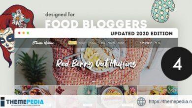 Lahanna – Food Blog WordPress Theme [Free download]