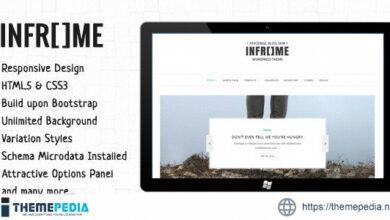 Inframe – Personal WordPress Blog Theme [Free download]