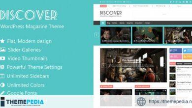 Discover – Flat WordPress Magazine Theme [Free download]