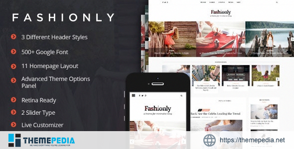 Fashionly – Fashion Blog Theme [Latest Version]
