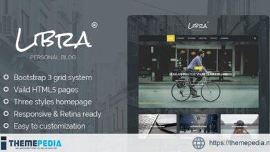 Libra – Personal Blog WordPress Theme [Free download]