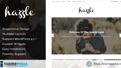 Hazzle – Personal & Travel Blog Theme [Free download]