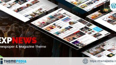 ExpNews – Newspaper and Magazine WordPress Theme [Free download]
