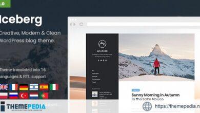 Iceberg – Simple & Minimal Personal Wordpress Blog Theme [nulled]