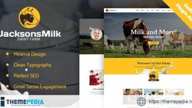 Dairy Farm & Eco Milk Products WordPress Theme [Free download]