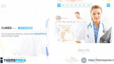 Cured – One Page Medical Doctor WordPress Theme [Free download]