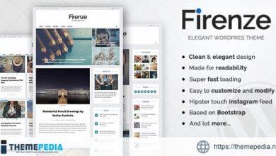 Firenze – Clean & Elegant Blog Theme [Updated Version]