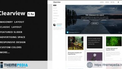 Clearview – A Clean & Responsive Blog Theme [Updated Version]