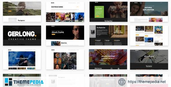 Gerlong – Responsive One & Multi Page Portfolio Theme [Free download]