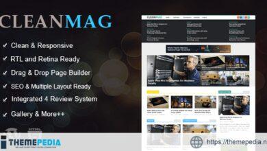 Cleanmag – Multipurpose Magazine WordPress Theme [Free download]