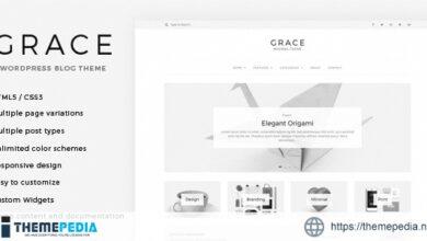 Grace – Minimal WordPress Blog Theme [Free download]