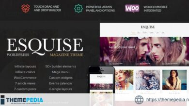 Esquise – Magazine WordPress Theme [Free download]