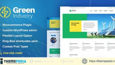Green Industry – Renewable Energy & Ecology Friendly Industrial Theme [Updated Version]
