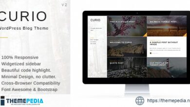 Curio – Responsive Minimal Blog Theme [Free download]