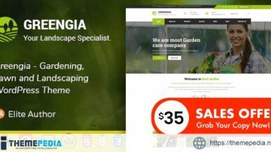 Greengia – Gardening, Lawn and Landscaping WordPress Theme [Free download]