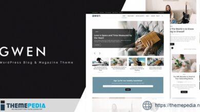 Gwen – Creative Personal WordPress Blog Theme [Free download]