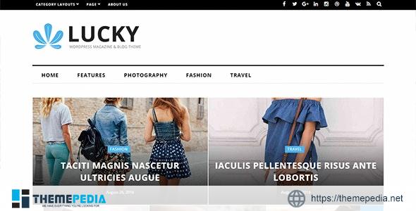 Lucky – WordPress Magazine and Blog Theme [Free download]