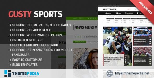 Gusty Magazine WordPress theme [Free download]