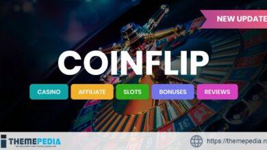 Coinflip – Casino Affiliate & Gambling WordPress Theme [Free download]