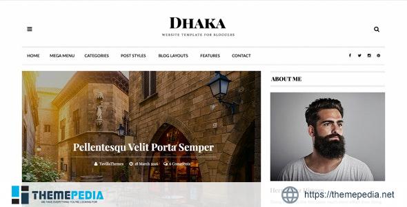 Dhaka – Responsive WordPress Blog Theme [Free download]