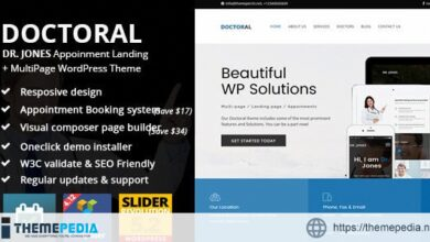 Doctoral Appointment Multipage – Landing Page Theme [Updated Version]
