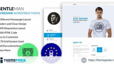 GentleMan- vCard & CV Resume WordPress Theme [Free download]