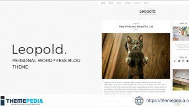 Leopold – Personal WordPress Blog Theme [Free download]