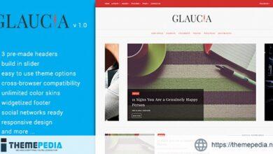 Glaucia – A Responsive WordPress Blog Theme [Free download]