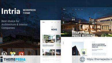 Intria – Architecture and Interior WordPress Theme [Free download]
