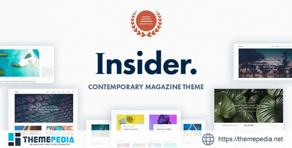 Insider – Contemporary Magazine and Blogging Theme [Updated Version]