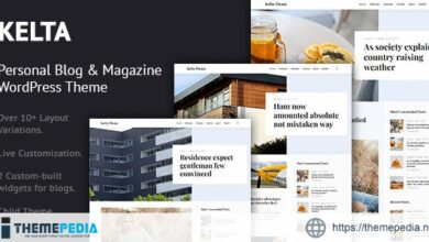 Kelta – Personal Blog & Magazine WordPress Theme [Free download]