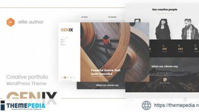 Genix – Creative Portfolio WordPress Theme [Free download]